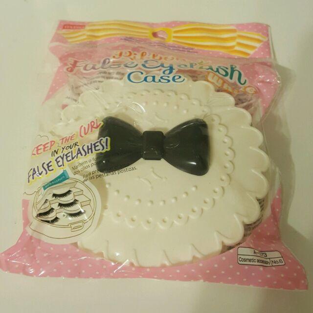 Daiso Pink Cute Case Bow Fairy Ribbon 3 Pairs False Eyelash