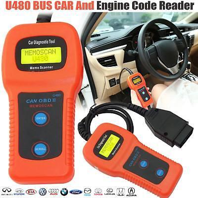 U480 CAN OBD2 Memoscan Car Engine Fault Code Read Clear Diagnostic Scanner USA
