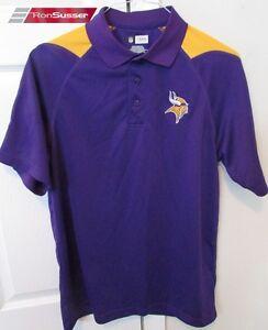 5b5b2efd0 Image is loading NFL-Minnesota-Vikings-Mens-Purple-Polo-Golf-Shirt-