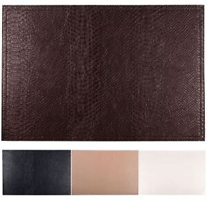 Superieur Image Is Loading Set Of 4 Faux Leather Placemats Coasters Dining