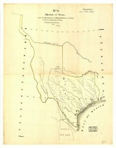 Details about A4 Reprint of American Cities Towns States Map Texas