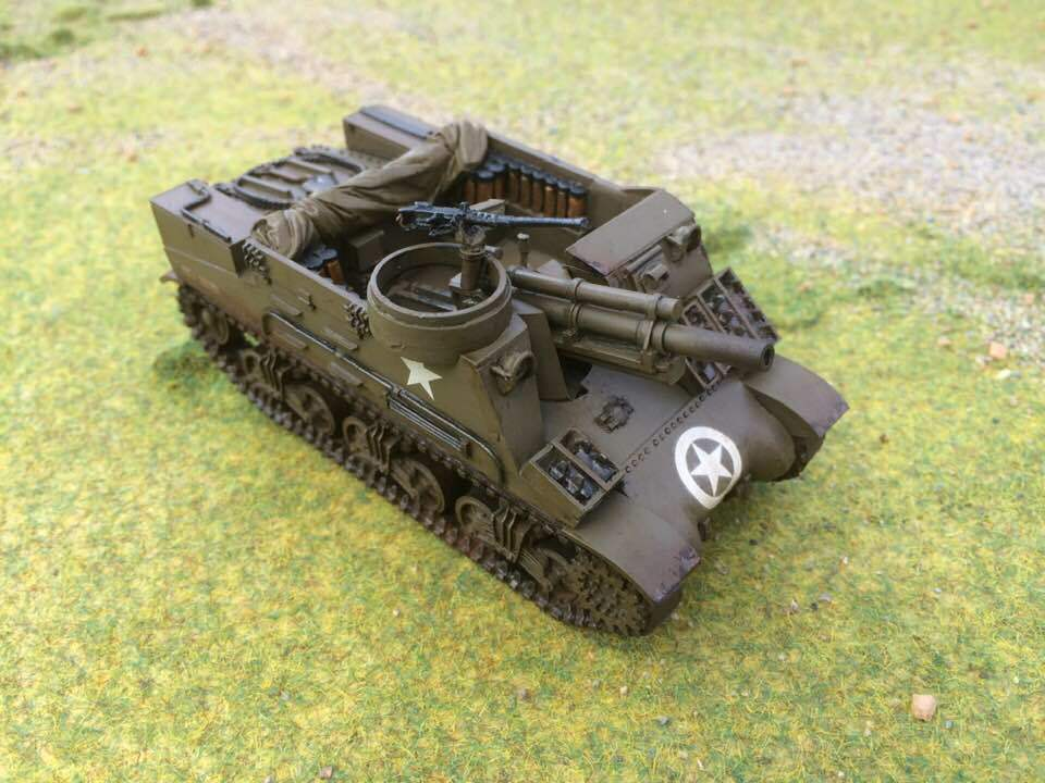 Warlord Bolt Action WW2 M7 Priest Self-Propelled Gun, Pro Painted to order