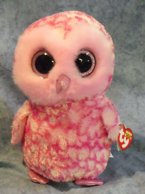 Ty Beanie Boo Buddy 9 Plush Pinky The Pink Owl for sale online  999b5e026a1
