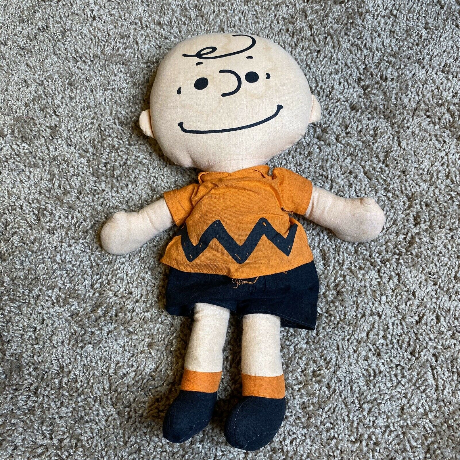 "RARE Vintage 1950 Charlie Brown Plush Doll Doll Doll 14"" 5f4"