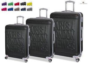 Set-3-Trolley-Valigie-Tris-con-8-RUOTE-in-ABS-Rigido-Con-Bagaglio-a-Mano-ORMI