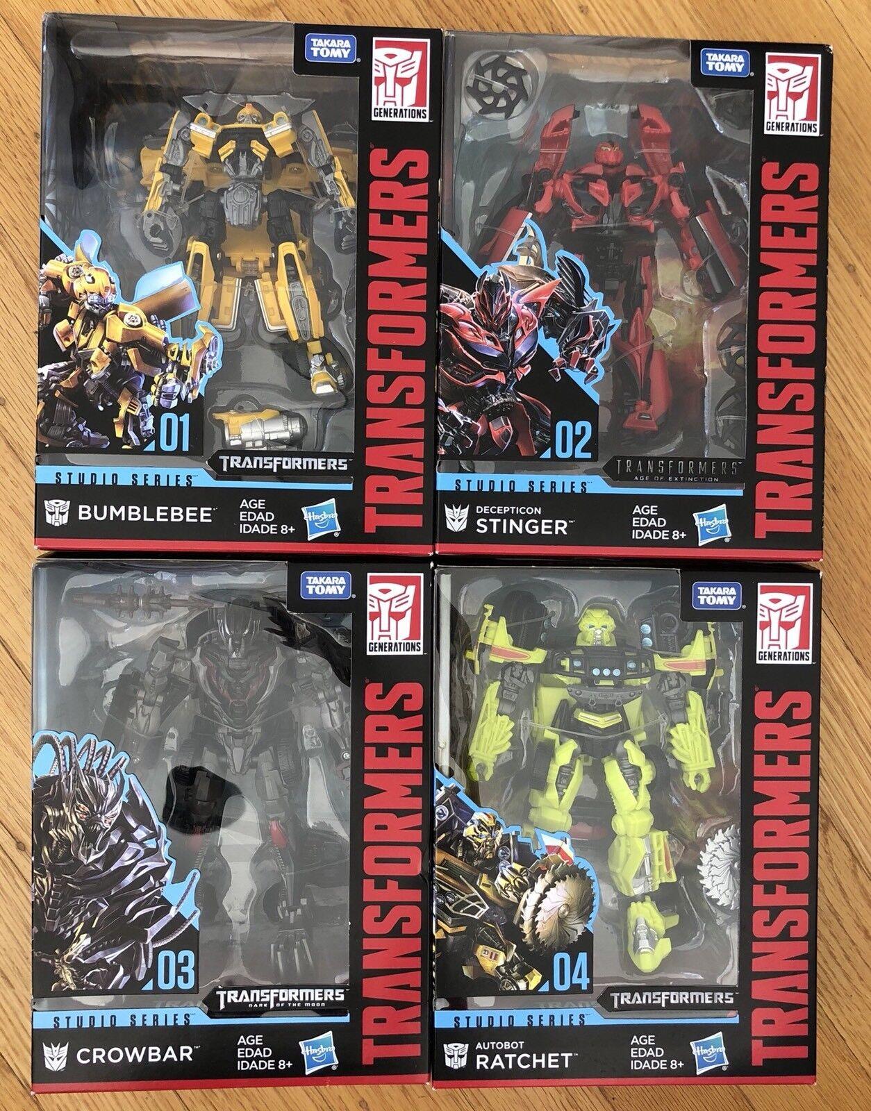 Transformers Studio Series Wave 1 Bumblebee Stinger Ratchet Crowbar