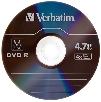 M-Disc 1000-Year Archival Logo-top 4.7GB DVD+R, Engraved in Stone 10-Pak, #98908