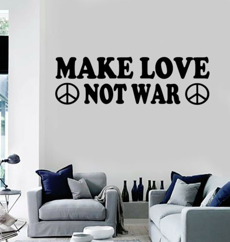 Vinyl Wall Decal Hippie Quote Peace Pacifism Stickers Mural ig3871