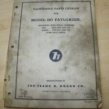 Hough Model Ho Payloader Front End Wheel Loader Parts Manual Book Catalog