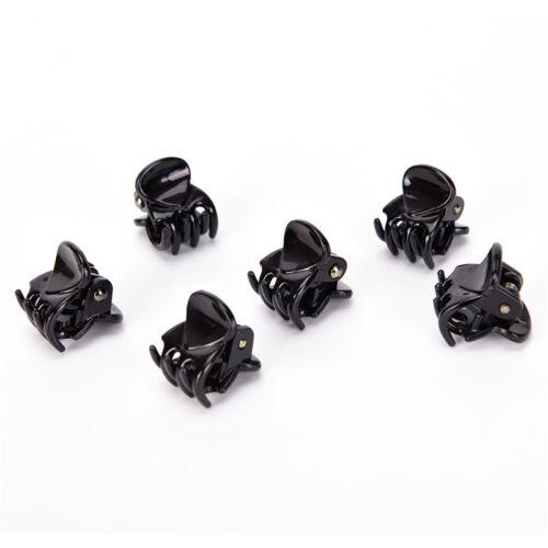 Fashion Women Girls 12pcs Black Plastic Mini Hairpin 6 Claws Hair Clip Clamp /_ZT
