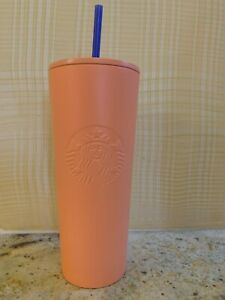Peach and Pink Stainless Steel Tumbler