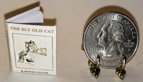 1:12  SCALE MINIATURE BOOK BEATRIX POTTER THE SLY OLD CAT