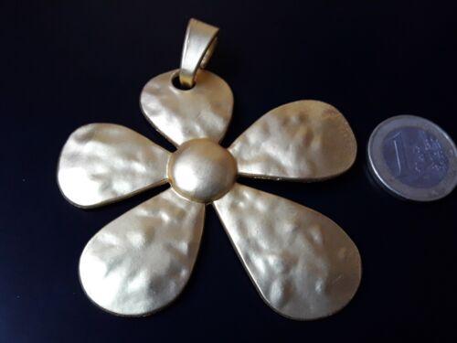 flores abalorios collares margarita FLOR-32DO De 1 a 20 Colgantes Zamak Dorado