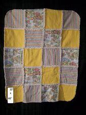 Nursery Rhyme Flannel Rag Quilt with Fleece back
