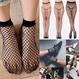 5e5a8c39a Women Ladies Fashion Black Big Mesh Fishnet Net Pattern Pantyhose ...