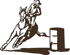 Cowboy Barrel Race Horse Boy Rodeo Car Truck Window Laptop Vinyl - Barrel racing custom vinyl decals for trucks