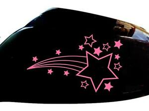 Shooting-Stars-Car-Sticker-Wing-Mirror-Styling-Decals-Set-of-2-Pink
