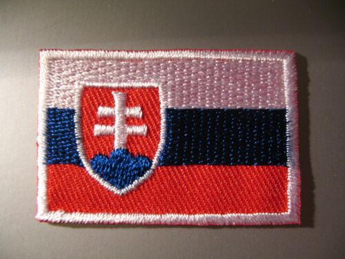 SLOVAKIAN FLAG Slovakia Small Iron On// Sew On Cloth Patch Badge Slovenská vlajka