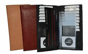New-Men-039-s-Leather-Long-Wallet-Pockets-ID-Card-Clutch-Bifold-Purse