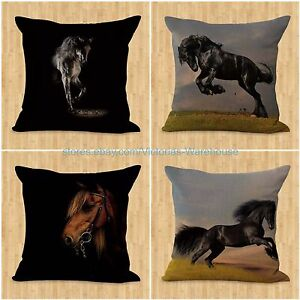 Patio Furniture Pillow Covers.Details About Set Of 4 Horse Pillow Cushion Covers Equine Patio Furniture Cushions Covers