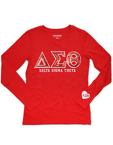 Details about DELTA SIGMA THETA SORORITY LONG SLEEVE SHIRT BLING DELTA  SIGMA THETA T-SHIRT