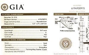 GIA-loose-certified-47ct-VS2-G-Brilliant-round-diamond-vintage-antique