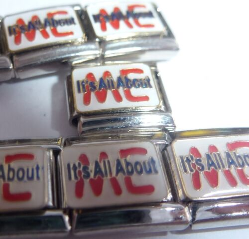 9mm fits Classic Bracelets Spoiled Attitude IT/'S ALL ABOUT ME Italian Charm