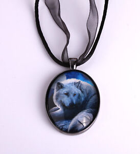 Wolf Pendant Necklace 'Guardian of The North' Design by Lisa Parker