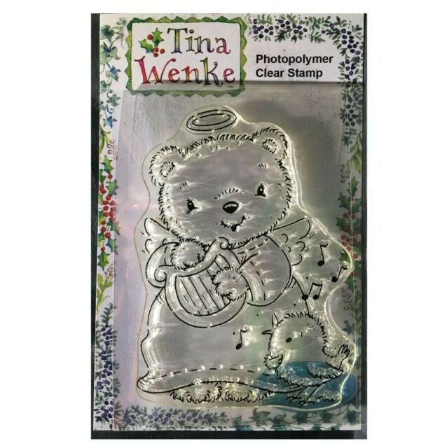 Christmas Stamps Candy Cane Train Cling Stamp Tina Wenke Stampavie WDS864