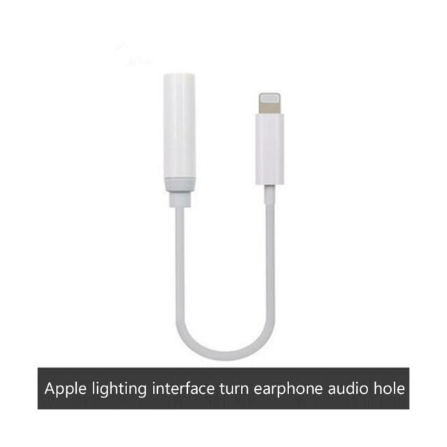 3.5mm Earphone Headphone Jack Connector Adapter Cable Cord For iPhone X 7Plus 8