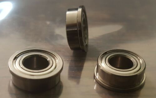 """Lot of 15 NHBB Flanged Bearing1//2/"""" OD 1//4/"""" Bore3//16/"""" ThickSSRIF-814ZZR"""
