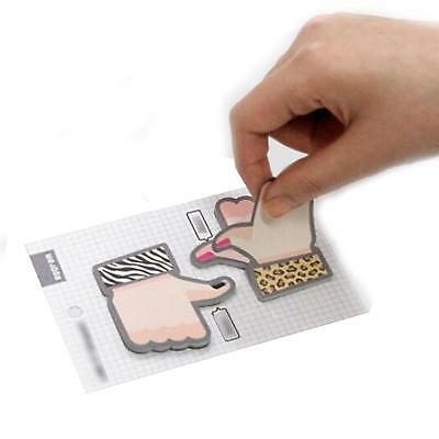Stationery Kids Children Memo Paste Office Supply Thumb Shape Note pad New
