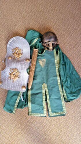 Kids Knight Costume Breastplate Shield Helmet Scab