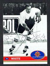 Bill White signed autograph auto 1972 Hockey Canada Card 1991 Future Trends