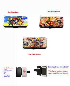 Una-Pieza-Dibujos-animados-Anime-cartera-de-cuero-funda-carcasa-para-iPhone-4-4s