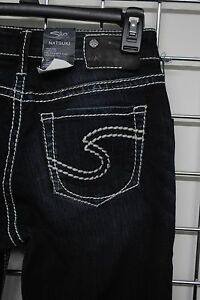 NWT SILVER Jeans NATSUKI High Super Boot DarkRelaxed Hips Pants ...