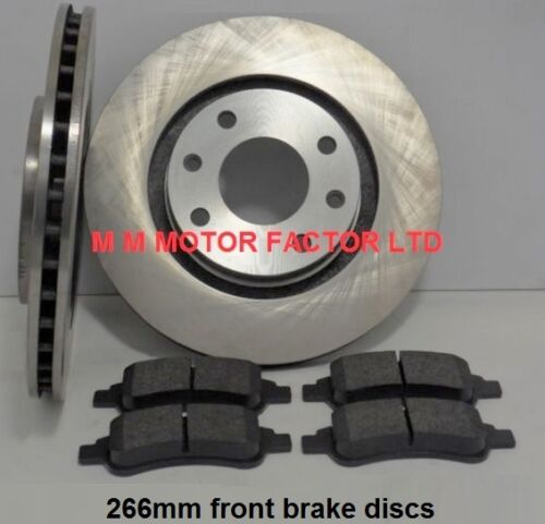 FOR Peugeot 307 1.4 2001-2008 Vented| 1.6 /& 2.0 HDi Front Brake Discs /& Pads