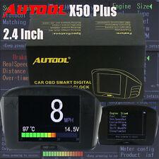 Water Temperature Gauge Digital Voltage Meter OBD Tachometer Speed Meter Display