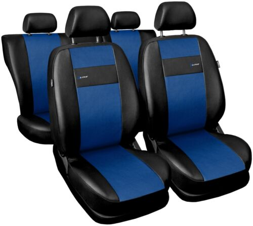 Car seat covers fit Nissan Tino black//blue leatherette full set