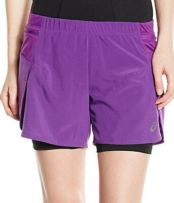 Ehrlichkeit Asics Fujitrail 2 In 1 Womens Running Shorts - Purple Erfrischend Und Wohltuend FüR Die Augen