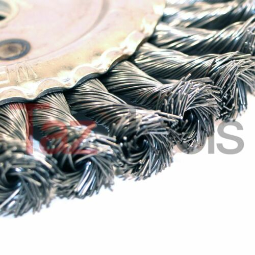 "6/"" COARSE KNOTTED KNOT WIRE WHEEL BRUSH FOR BENCH GRINDER 9000 RPM"