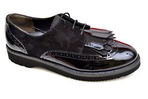 Details zu PAUL GREEN Damen Sneaker Schuhe Dandy Schnürer PG 1019 Black Lack Leder NEU