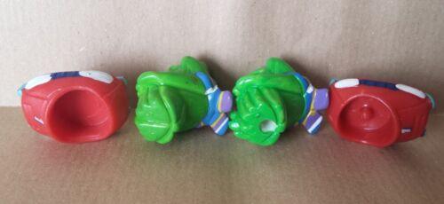 HPF Figuren Frosche Frogs Ranopla Ü-Ei Variante mit Pin Raritäten Inkl Zubehör