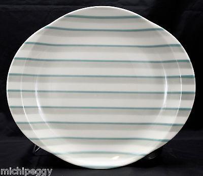 "MINT VINTAGE 1954 W. S. George Mid Century 13¼"" x 11½"" Large Striped Platter"