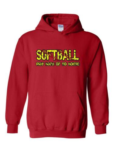 Softball Play Hard or Go Home Softball Field Gift Match Unisex Hoodies Sweater
