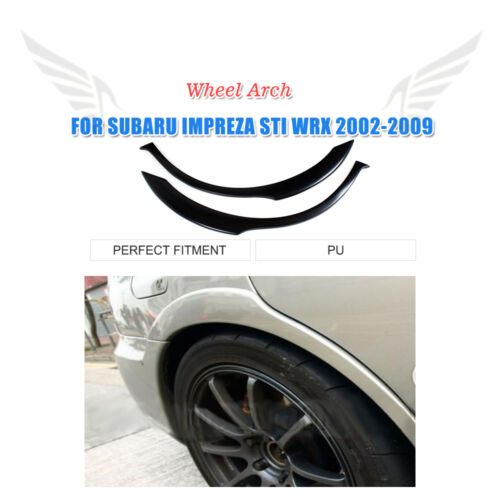 Rear Wide Wheel Arch Fender Flares Trim Fit for Subaru Impreza STI WRX 2002-2009