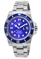 Legend Deep Blue Silver Mens Watch LD-1002-33