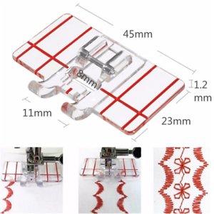 Useful-Plastic-Parallel-Stitch-Foot-Presser-For-Brother-Domestic-Sewing-Machine