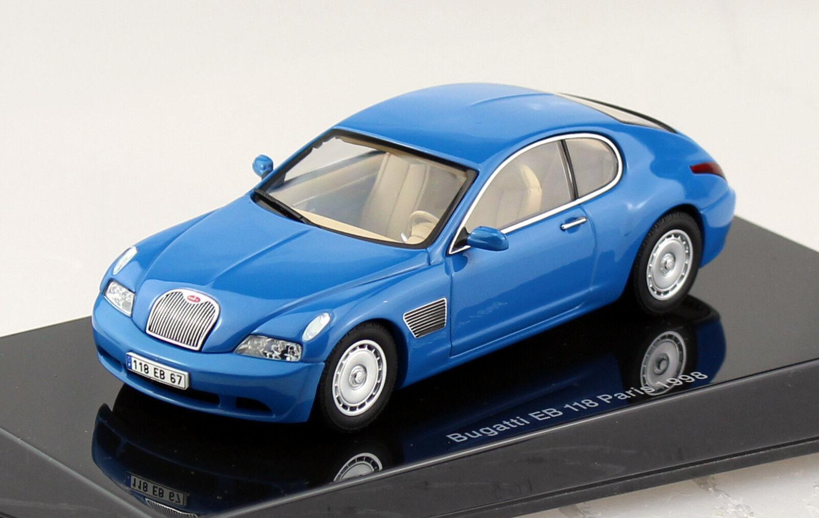 Bugatti EB118 París París París 1998 azul concepto 1 43 tipo modelo del coche 50921 e2a693