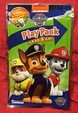 Nickelodeon Paw Patrol Play Pack Grab & Go!Coloring Book Crayons Stickers Travel